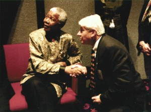 John Savage with Nelson Mandela